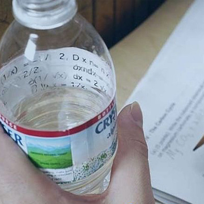 cheat on exam with bottle
